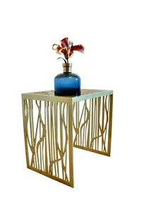 Modern Unique Contemporary  Handmade Designer Coffee Table Gold FOREST