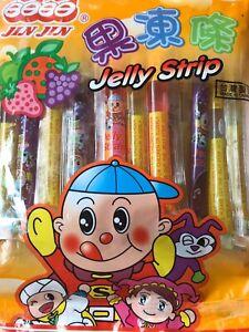 Tiktok Challenge Fruit Jelly Filled Straws Sticks 20 Ct BUY 2 GET 1 FREE Tik Tok