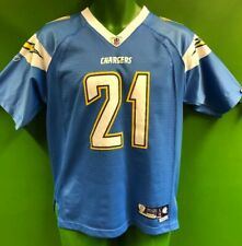 J889/230 NFL Los Angeles Chargers Tomlinson #21 Reebok Jersey Youth Large 14-16