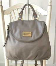 MARC BY MARC JACOBS Women's TAUPE Leather Classic Q Mariska Backpack Traveler