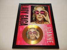 LADY GAGA    SIGNED  GOLD CD  DISC   543