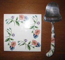 "Amapola Villeroy Boch Cheese Stainless Steel Plane and 6"" Tile Trivet w/ Cork"
