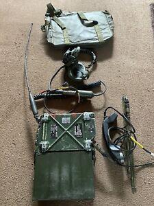 Clansman Military UK RT351 PRC351 MANPACK radio ANCILLARIES & BAG (b)