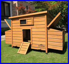 LARGE DELUXE CHICKEN COOP HEN POULTRY ARK HOUSE HUTCH RUN NEST NEW BALMORAL
