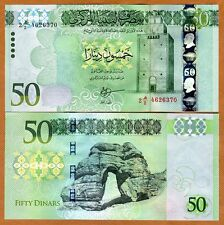 Libya, 50 Dinars, ND (2016), P-New, Russian Printed, Modified, UNC
