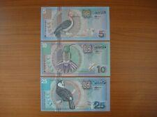 Lot de 3 billets Suriname, Surinam