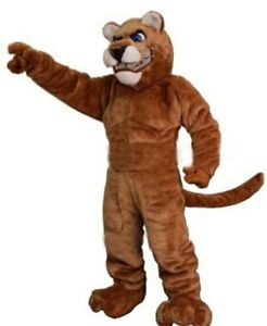 Halloween Leopard Panther Cat Cougar Mascot Costume Clothing Carnival Adults