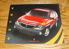Original 2001 Pontiac Aztek Deluxe Sales Brochure 01 GT