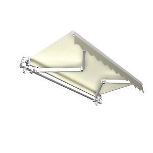 Markise Sonnenschutz Gelenkarmmarkise Handkurbel 250x150cm Creme Beige B-Ware