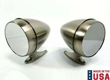 Pair Premium Bullet Style Brushed Side Mirrors For 1965-68 Ford Mustang / Shelby