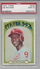 1972 Topps baseball card #476 Lee Richard, Chicago White Sox PSA 9 Mint Rookie