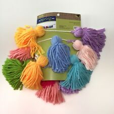 Hobby Lobby Yarn String Tassel Garland Multi Color Rainbow Balloon Tails 4 Feet