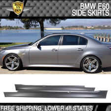 Fit 04-10 BMW E60 E61 5-Serie M5 Style PP Side Skirts Panels Pair 525i 530i 545i