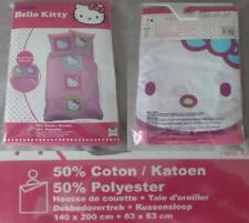 Parure lit Housse couette Taie oreiller Hello Kitty NEUF sous blister