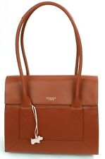 Radley Border Tan Brown Leather Shoulder Bag Large Handbag