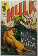 Incredible Hulk #109 (Nov 1968, Marvel), VFN-NM condition, Ka-Zar appearance