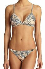 ZIMMERMANN $240 QUILTED TRI BIKINI 2 PIECE TOP BOTTOM SWIMSUIT  AU 2  US  6 8