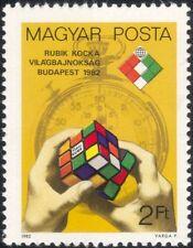 UNGHERIA 1982 Cubo di Rubik/CAMPIONATI/GIOCATTOLI/Giochi/Sport/Cronometro 1 V (n45205)