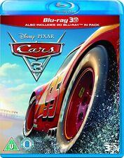 Disney Pixar Cars 3 [3D + 2D Blu-ray Region Free Lightning McQueen Racing] NEW