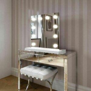 Hollywood Mirror Rihanna White Edge Mirror With White Base 60x60 Vanity Mirror