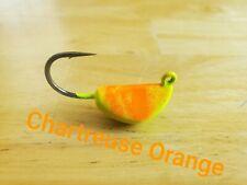 5pk Tog / Sheepshead Jigs, Tautog, Porgy, Chartreuse Orange, banana jig