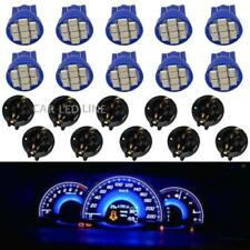 10pcs Blue T10 194 LED Bulbs for Instrument Gauge Cluster Dash Light W/ Sockets