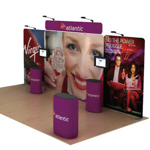20FT Protable Fabric Booth Trade show Display Pop Up Banner Stand Sets #1