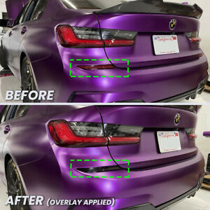 FOR 2019-2020 BMW G20 330i M340i Rear Bumper Reflector Overlay Tint SMOKED