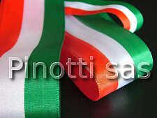 NASTRO IN TESSUTO TRICOLORE CM 5 - ROTOLO DA 10 METRI  - 100% POLIESTERE - ITALY