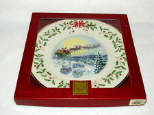 Santa's Ride Lenox 2002 Holiday Collector's Ltd Ed Plate #12 - Mib