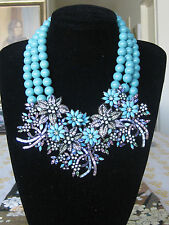 """Heidi Daus """"Breathless"""" Necklace and clip on earrings"""