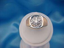 14K GOLD 0.50 CT T.W. GENUINE DIAMONDS MEN'S CLUSTER RING, 12.8 GRAMS, SIZE 11.5