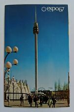 Vintage Expo67 Postcard Montreal Canada The Spirale at La Ronde Ride Mailed 1967