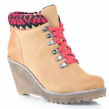 BOTTINES Femme BASKET T 40 CONFORT COMPENSEES MARRON CAMEL SNEACKER ZAZA2CATS