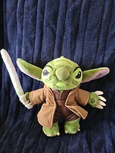 Disney Star Wars Stitch Plush Toy Yoda Lilo And Stitch