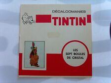 HERGE TINTIN LIVRET COMPLET DECALCOMANIES DAR SEPT BOULES + TEMPLE SOLEIL TBE