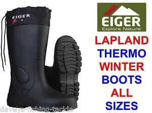 EIGER LAPLAND THERMO WINTER BOOTS SEA COARSE FISHING HIKING SKIING WALKING BOOTS