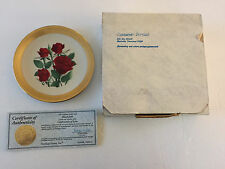 1990 Black Jade Rose Celebration of Love Collection Collector Plate