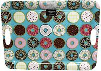 """Sprinkled Donuts Large Melamine Party Sandwich Snack Serving Tray 15""""x19.75 New"""