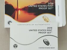 2019-S ~PROOF SET CLAD~IN ORIGINAL BOX~ WITH~COA & ~W LINCOLN CENT /& PAPER~MM