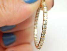 SIMPLE GOLD OVER STERLING FRONT & BACK CZ HOOP EARRINGS JJI