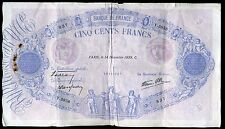 500 francs  BLEU ET ROSE 14/12/1939  ( 3858 )