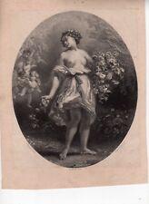 Lithographie ancienne par H. Baron d'après C. Roqueplan