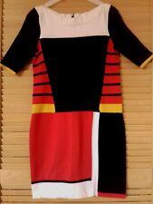 KAREN MILLEN Colour-Block Bodycon Knit Dress, Size 3 (UK12) - Hardly Worn