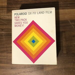 Polaroid Time Zero Supercolor SX-70 Land Film Two Pack EXPIRED New Sealed