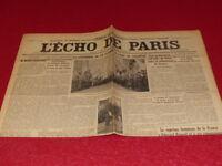 [PRESSE WW2 AVANT GUERRE] L'ECHO DE PARIS #20274 21 AVRIL 1935