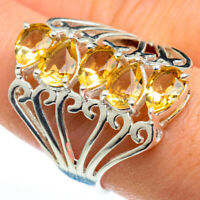 Citrine 925 Sterling Silver Ring Size 9.25 Ana Co Jewelry R46392F