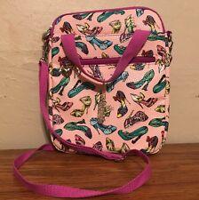 Disney Parks Princess Heels Shoes iPad Tablet Purse Case Crossbody Pink Bag