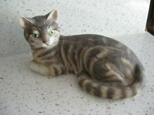 The Chancery Collection hand painted porcelain TABBY CAT