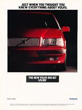 1993 Volvo 850GLT 850 Original Advertisement Print Art Car Ad K35